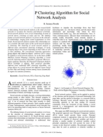 Improved BSP Clustering Algorithm for Social Network Analysis