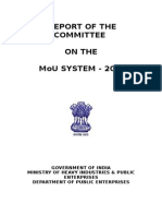Report of the Committee on the MoU System 2012