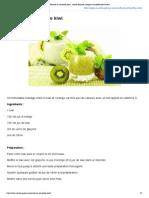 Recette du smoothie kiwi _ recette illustrée, simple et facileRecette Gateau