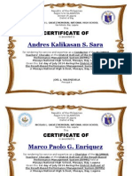 Certificate for Nlgmnhs Teachers' Chorale.june6,2014