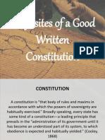 requisitesofagoodwrittenconstitution-140318080741-phpapp01
