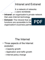 Wk1 Internet, Intranet and Extranet