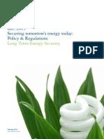Long Term Energy Security