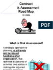 Contract Risk Assessment Roadmap Presentation