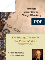 Strategy According to Henry Mintzberg