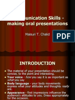 Communication Skills - Making Oral Presentations