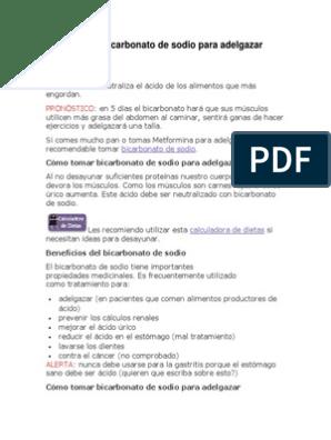 bicarbonato para adelgazar doctor salomon