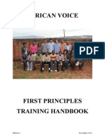 African Voice - First Principles Training Guide (2012 Ed 1)