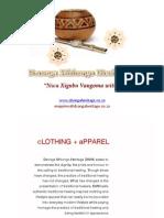 Dzonga Mhlongo Heritage Fashion Catalogue