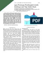 Studi Perancangan Prototype Pembangkit Listrik Tenaga Gelombang Laut Tipe Salter Duck