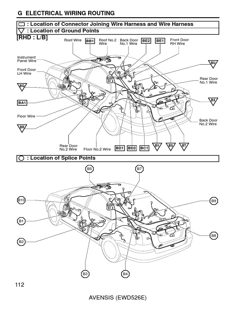 toyota avensis 2003 2007 electrical wiring routing rh scribd com