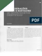 BRENNI Consideracoes sobre o restauro de instrumentos cientificos.pdf