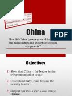 China - Telecom Equipment Innovation Leadership
