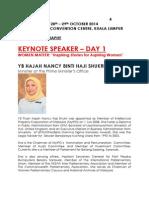 Speaker's Profile - WEF KL 2014