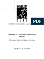 Modelling of a Fed-Batch Fermentation Process