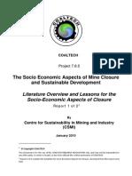 Coaltech Mine Closure Report 1 2010