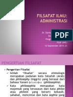 Filsafat Ilmu Administrasi
