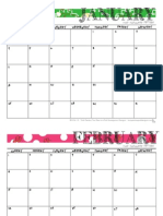 2015 Free Printable Calendar from Two Peas in a Pod