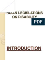 New Microsoft PowerPoint Presentation ON LEGISLATIONS ON DISABILITY