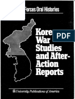 Korean After Action Reports
