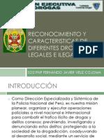 RECONOCIMIENTO Y CARACTERISTICAS DE DIFERENTES DROGAS LEGALES E.pptx