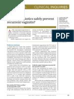 Can p Rio Biotics Prevent Vaginitis