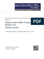 Financial Statements and Federal Single Audit Report for Island Transit