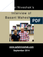 Basant Maheshwari Interview Sept. 2014