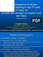 DICHY_Foundations of Arabic Linguistics-3_23-10-14.ppt