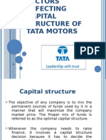 Capital Structure of Tata Motors