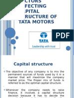 Capital Structure of Tata Motors