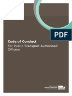 Code of Conduct for Public Transport Authorised Officers