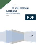 Crearea Unei Campanii Electorale 2