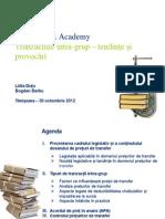 Tax Academy - Tranzactii Intra-grup - Timisoara 2012