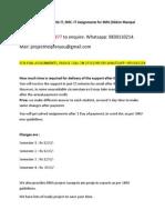 smu 3rd sem operation management assignments