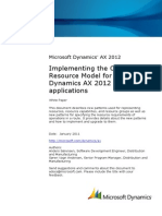 Implementing the Operations Resource Model AX2012