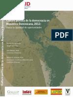 Cultura Política de la democracia en República Dominicana
