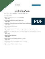 bullying quiz from teaching tolerance