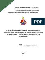 A IMPORTÂNCIA DA PARTICIPAÇÃO DA COMUNIDADE NA IMPLEMENTAÇÃO DO POLICIAMENTO COMUNITÁRIO.doc