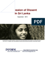 Repression of Dissent in Sri Lanka Sept 2014 English 23oct2014
