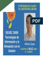 ISO 20000 Tecnologia de La Informacion y La Alineacion Con La Gestion