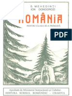 Romania Geografie 1931