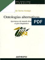 Ontologías alternativas Aperturas de mundo desde el giro lingüistico - Julián Serna Arango.pdf