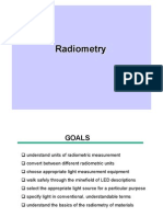 Understand Units of Radiometric Measurement Convert Between Different Radiometric Units