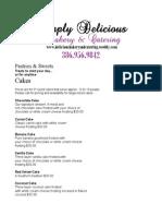 simply delicious bakery menu revised