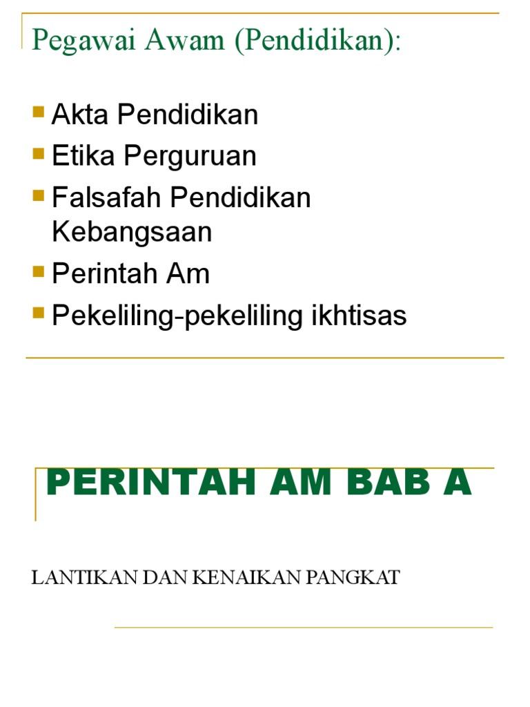 Perintah Am Bab A
