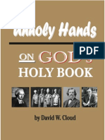 unholy hands on gods holy book