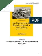Bibliografía - Oszlak. La formación del Estado argentino. Capítulo 3 (fragmento).doc