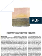 Lyotard - Presenting the Unpresentable - The Sublime