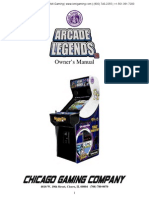 Arcade Legends 3 Upright Video Arcade Game Owners User Manual Chicago Gaming Company